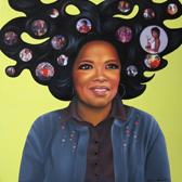 Portrait of Oprah Winfrey, painted by Bonnie Gloris as a commission from life-coach Russell Terry.